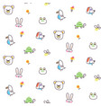 cute animal pets icons doodle vector image vector image