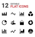 diagram icons vector image vector image