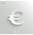 Euro Icon - white app button vector image vector image