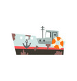 fishing vessel industrial trawler for seafood vector image vector image