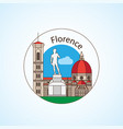 florence italy detailed silhouette vector image vector image