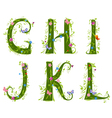 foliage letter 2 vector image vector image
