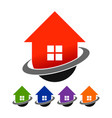 global real estate house logo icon template vector image vector image