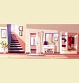 hallway room interior vector image vector image