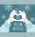 hello winter holiday vector image