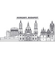 hungary budapest line skyline vector image vector image
