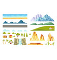 landscape constructor isolated elements vector image vector image