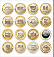 luxury sale gold and white labels collection vector image vector image