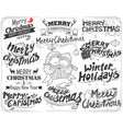 merry christmas and winter holiday lettering vector image vector image