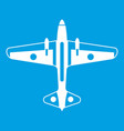 military aircraft icon white vector image vector image