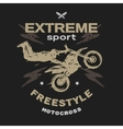 Motocross sport Free style vector image vector image