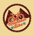 mountain bike vintage style poster vector image vector image