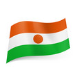 national flag of niger orange white and green vector image vector image