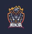 ninja mascot logo vector image