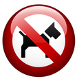 no dog mark vector image vector image