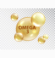 omega 3 pill vitamin capsule oil bubble isolated vector image