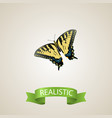 realistic tiger swallowtail element vector image vector image