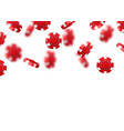red flying falling casino poker chips isolated on vector image vector image