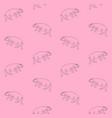 seamless pattern hand drawn hippopotamus vector image vector image
