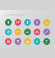 set of 15 editable barber icons includes symbols vector image vector image