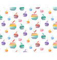 set of bright apples pattern vector image