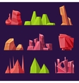 Set of Cartoon Stones and Minerals for vector image vector image
