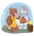 sick teddy bear vector image vector image