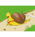 Snail on a racetrack vector image vector image