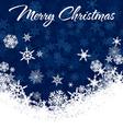 Snowflakes Chrismas Card vector image vector image