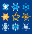 snowflakes christmas stars vector image vector image