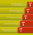 step by step concept vector image vector image