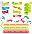 stickers and banners set vector image vector image