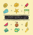 summer vacation holiday icons background eps 10 vector image