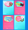 super spring sale 70 off stickers on web posters vector image vector image