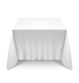 Table with white cloth vector image vector image