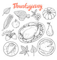 thanksgiving sketches vector image