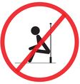 The structure is not strong do not sitting vector image vector image