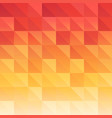 triangle background red orange saturated color vector image vector image