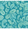 Turquoise Indian Henna Pattern vector image