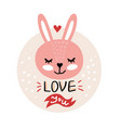 valentines day with cute cartoon vector image vector image