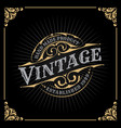 vintage luxury banner template design vector image vector image