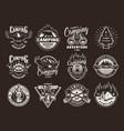 vintage summer recreation logotypes vector image vector image