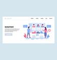 web site design template job recruitment vector image vector image