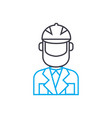 working uniform linear icon concept working vector image