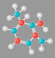 molecular structure design research concept in vector image