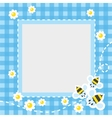 Frame or border with funny bees vector image