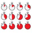 Stopwatch set vector image