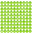 100 website icons set green vector image vector image