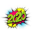 2019 year pop art comic book text speech bubble vector image vector image