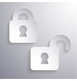abstract closed and open locks icons vector image vector image